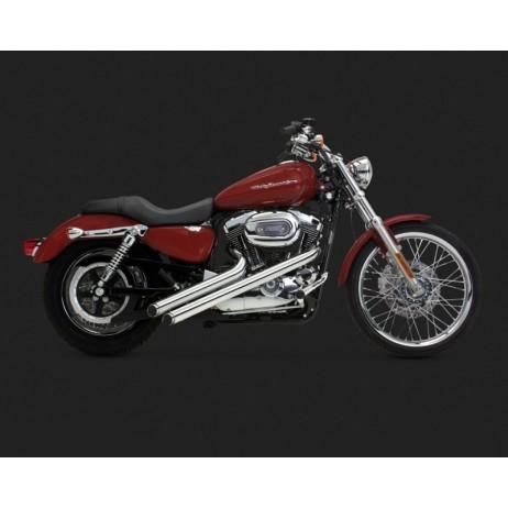 Chromovaný Vance & Hines výfuk SIDESHOTS pro Harley Davidson