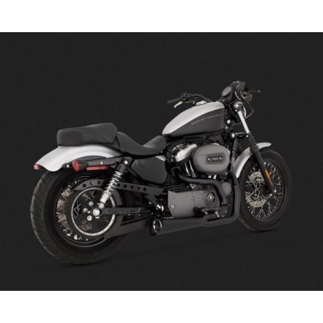 Chromovaný Vance & Hines výfuk COMPETITION SERIES 2-INTO-1 BLACK pro Harley Davidson