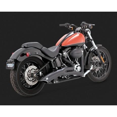 Černý Vance & Hines výfuk BIG RADIUS 2-INTO-1 BLACK pro Harley Davidson
