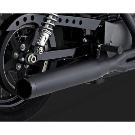 Černý Vance & Hines výfuk BLACKOUT 2-INTO-1 pro Harley Davidson