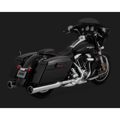 Chromovaný Vance & Hines výfuk OVERSIZED 450 RAIDER pro Harley-Davidson