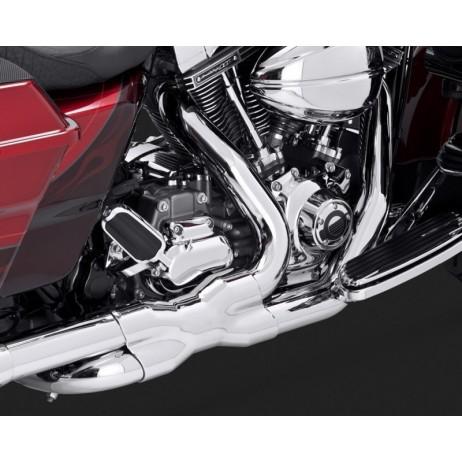 Chromovaný Vance & Hines kryt výfuku POWER DUALS pro Harley-Davidson