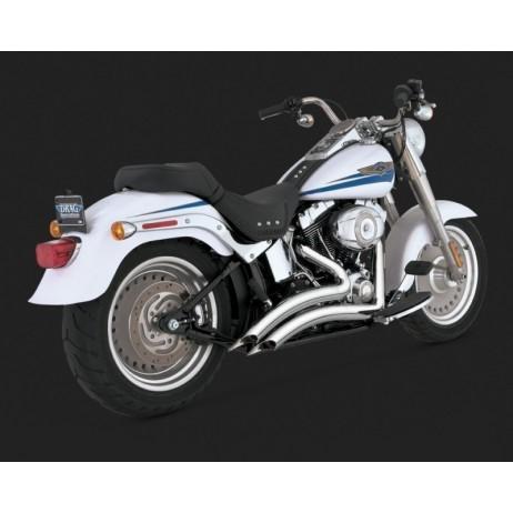 Chromovaný Vance & Hines výfuk BIG RADIUS 2-INTO-2 pro Harley-Davidson