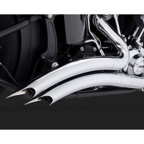 Chromovaný Vance & Hines výfuk BIG RADIUS 2-INTO-2 CHROME pro Harley-Davidson