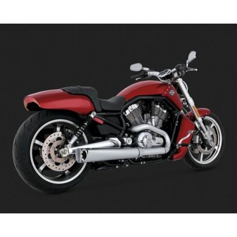 Stříbrný Vance & Hines výfuk COMPETITION SERIES SLIP-ONS pro Harley-Davidson
