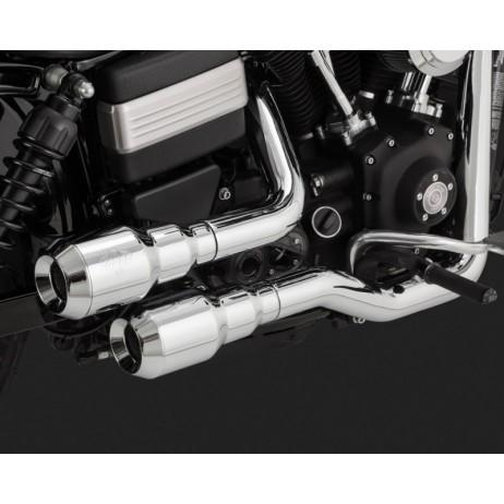 Chromovaný Vance & Hines výfuk HI-OUTPUT GRENADES 2-INTO-2 pro Harley-Davidson