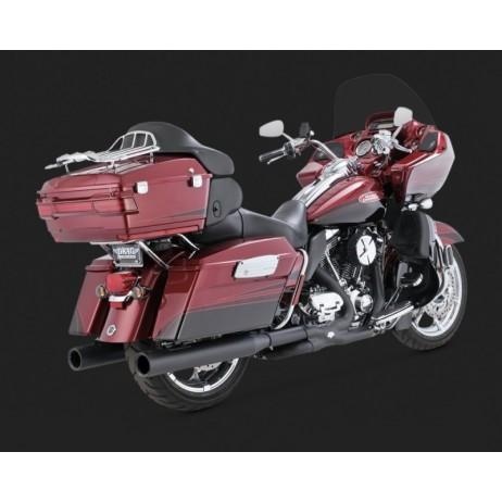 Černé Vance & Hines koncovky výfuku BLACKOUT ROUND SLIP-ONS pro Harley-Davidson