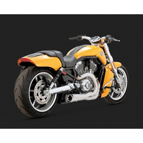 Stříbrný Vance & Hines výfuk COMPETITION SERIES 2-INTO-1 pro Harley-Davidson