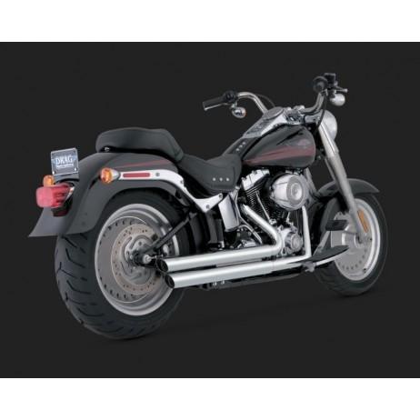 Chromovaný Vance & Hines výfuk DOUBLE BARREL STAGGERED pro Harley-Davidson