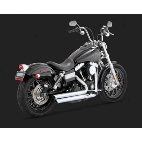 Chromovaný Vance & Hines výfuk BIG SHOTS STAGGERED CHROME pro Harley-Davidson