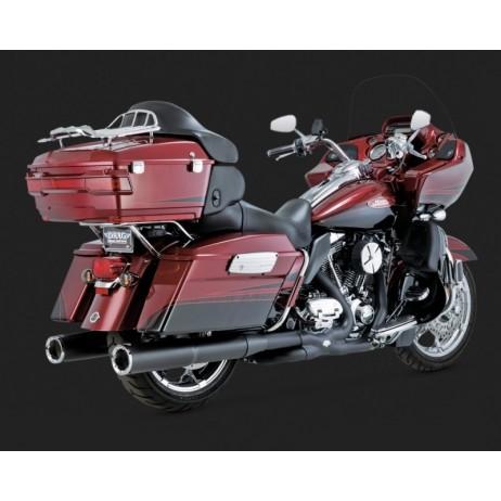 Černé Vance & Hines koncovky výfuku HI-OUTPUT BLACK pro Harley-Davidson