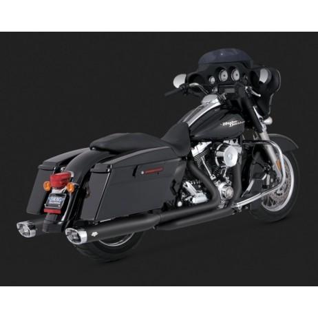Černé Vance & Hines koncovky výfuku MONSTER OVALS BLACK pro Harley-Davidson