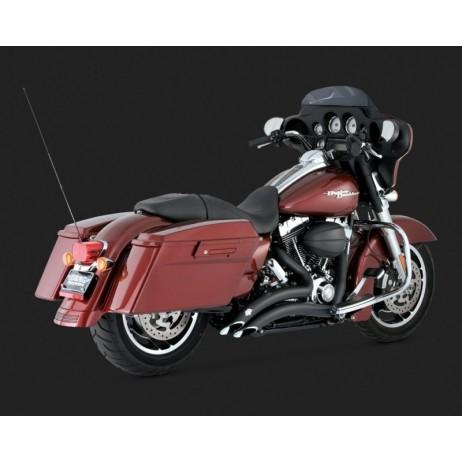 Černý Vance & Hines výfuk BIG RADIUS 2-INTO-2 BLACK pro Harley-Davidson