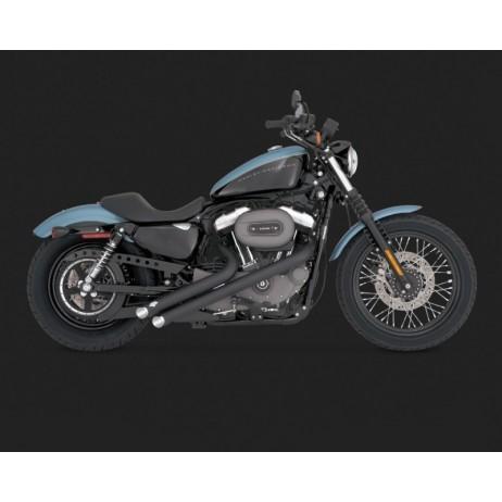 Černý Vance & Hines výfuk SIDESHOTS BLACK pro Harley-Davidson