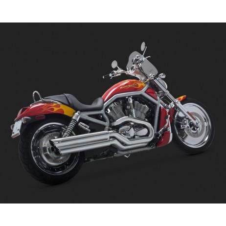 Chromovaný Vance & Hines výfuk POWERSHOTS pro Harley-Davidson