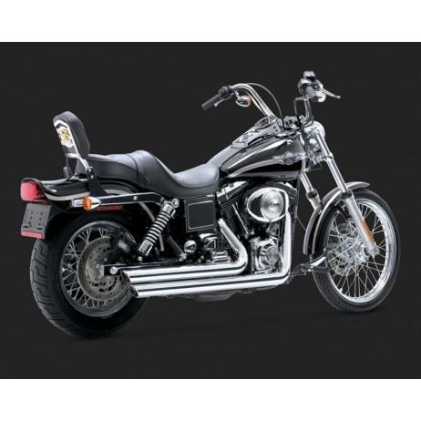 Chromovaný Vance & Hines výfuk BIG SHOTS STAGGERED pro Harley-Davidson