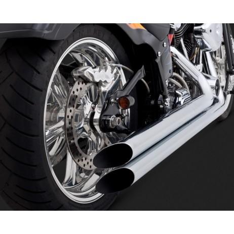 Chromovaný Vance & Hines výfuk LONGSHOTS HS pro Harley-Davidson