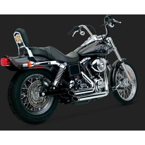 Chromovaný Vance & Hines výfuk SHORTSHOTS STAGGERED pro Harley-Davidson