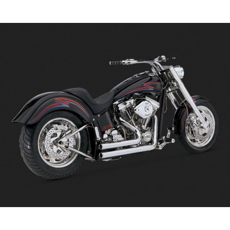 Chromovaný Vance & Hines výfuk SHORTSHOTS ORIGINAL pro Harley-Davidson