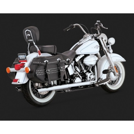 Chromovaný Vance & Hines výfuk SOFTAIL DUALS pro Harley-Davidson