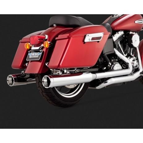 Chromovaný Vance & Hines výfuk SWITCHBACK MONSTER DUALS pro Harley-Davidson