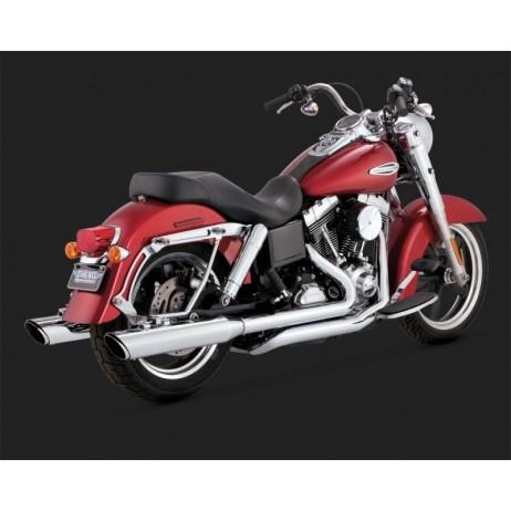 Chromovaný Vance & Hines výfuk SWITCHBACK TWIN SLASH DUALS pro Harley-Davidson