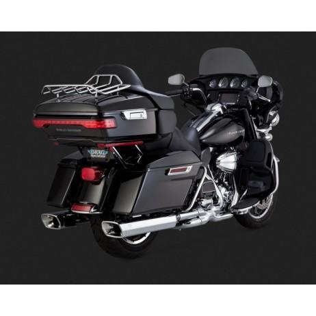 Chromovaný Vance & Hines výfuk MONSTER SQUARED pro Harley-Davidson