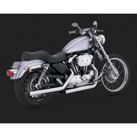 Chromovaný Vance & Hines výfuk STRAIGHTSHOTS (FORWARD CONTROLS) pro Harley-Davidson