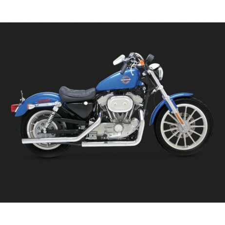 Chromovaný Vance & Hines výfuk STRAIGHTSHOTS (MID CONTRLS) pro Harley-Davidson