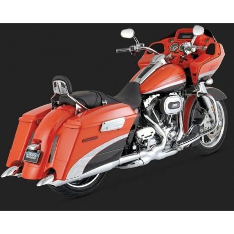 Chromovaný Vance & Hines výfuk TURNDOWN SLIP-ONS pro Harley-Davidson