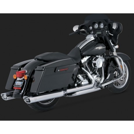 Chromovaný Vance & Hines výfuk DRESSER DUALS pro Harley-Davidson
