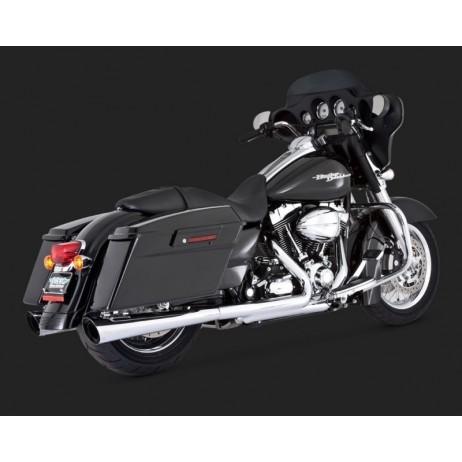 Chromovaný Vance & Hines výfuk TAPERED SLASH-CUT SLIP-ONS pro Harley-Davidson
