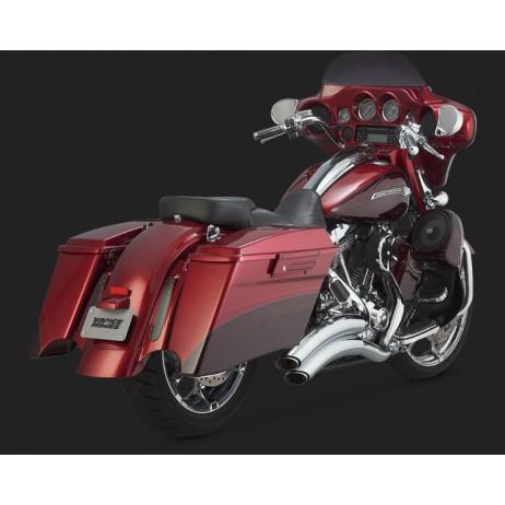 Chromovaný Vance & Hines výfuk TOURING SUPER RADIUS pro Harley-Davidson