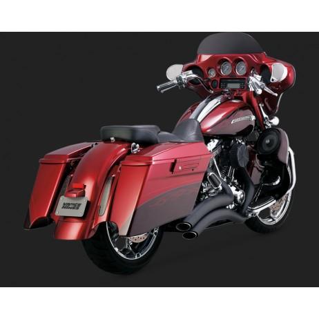 Černý Vance & Hines výfuk SUPER RADIUS BLACK pro Harley-Davidson
