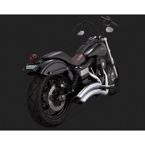 Chromovaný Vance & Hines výfuk SUPER RADIUS pro Harley-Davidson