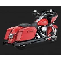 Černé Vance & Hines koncovky výfuku HI-OUTPUT CARBON BLACK SLIP-ONS pro Harley-Davidson