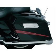 Chromované kryty zámků bočních kufrů Harley Davidson