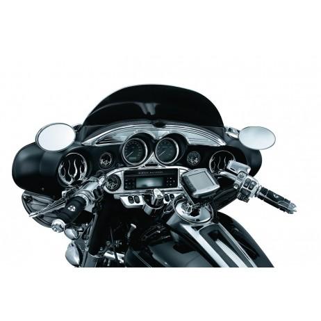 Chromovaný lem masky nad budíky Harley Davidson