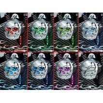 Chromovaná LED krytka klaksonu Zombie™