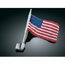 Držák vlajky na anténu s vlajkou