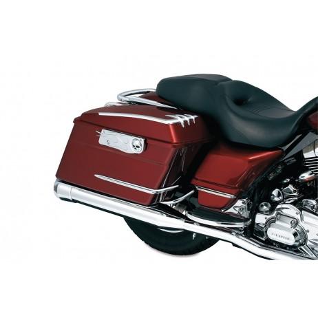 Chromované ozdobné krytky bočních kufrů pro Harley Davidson