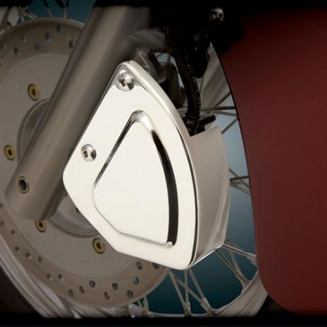 Levý chromovaný kryt brzdového třmenu Honda VT750