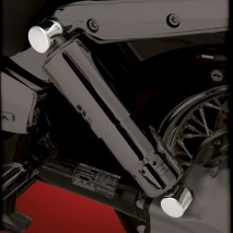 Chromované kryty šroubů zadních tlumičů - 4ks - Honda VTX