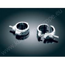 Chromovaná dvoudílná objímka přední vidlice - 54 mm – 58 mm