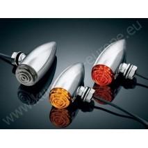 LED přídavná červená světla mini bullets
